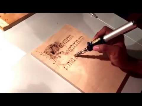 Pyrography using a dremel 2000 versatip outlined of letter pyrography using a dremel 2000 versatip outlined of letter roughed in wood burn letters 02 youtube spiritdancerdesigns Images