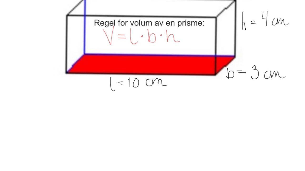 volum rektangel