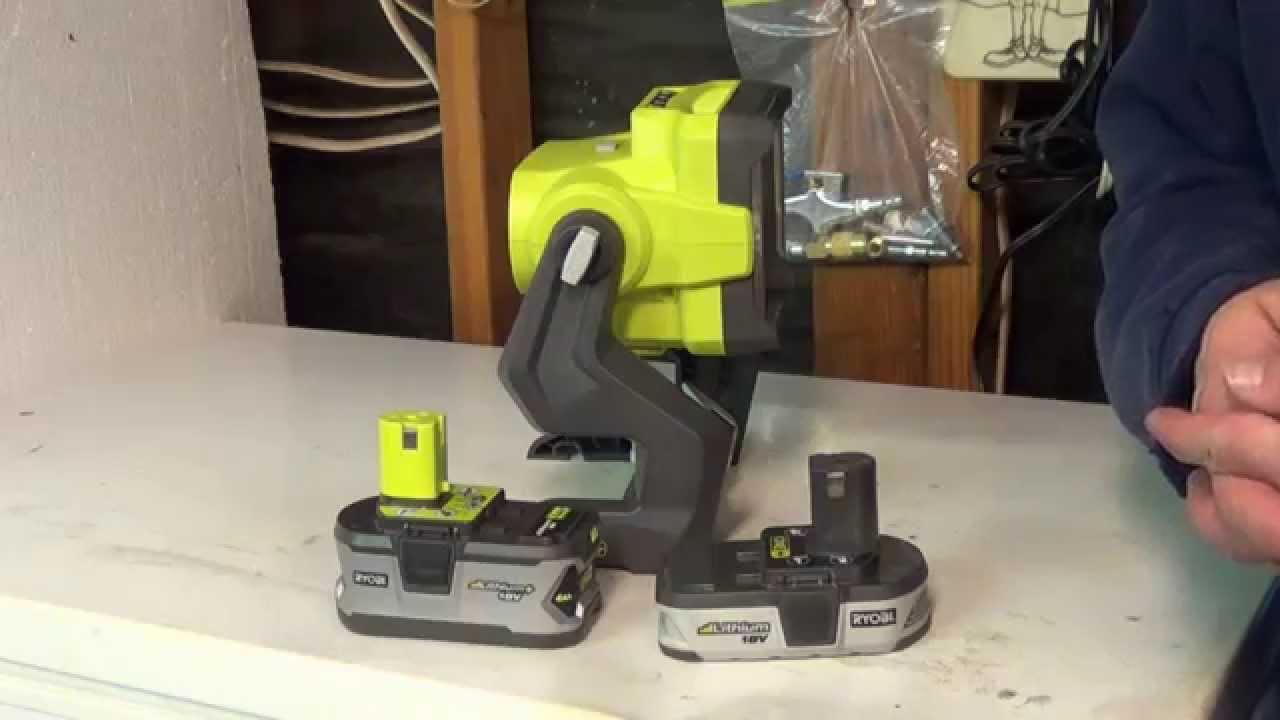 ryobi  led p  watt hybrid work light review youtube