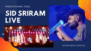 Sid Sriram on Stage in Kerala | Parayuvaan  | Ramu Kariat Music Award 2020 | Nattika Beach Festival
