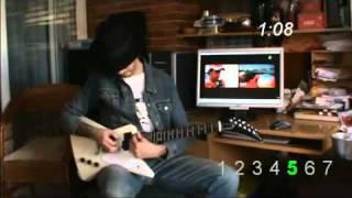 moteur F1 avec une guitare electrique