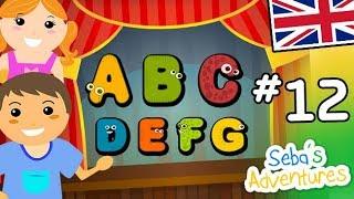 Canzone alfabeto in inglese per bambini, imparare alfabeto inglese con canzone ABC, Lezione 12