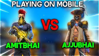 AmitBhai Vs Ajjubhai On MOBILE || Free Fire Clash Squad || Desi Gamers