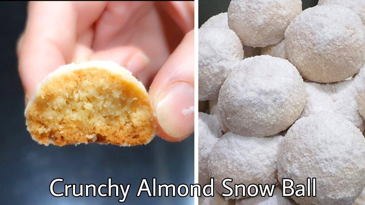 Crunchy Almond Snow Ball Aka Putri Salju Almond Youtube