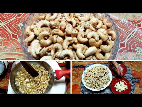 Cara Membuat Kacang Mete Goreng Bawang(Tips Goreng Mete)