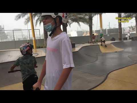 Amateur Skating Tricks @XDubai   Skate Park in Umm Suqeim, Dubai   PG advised