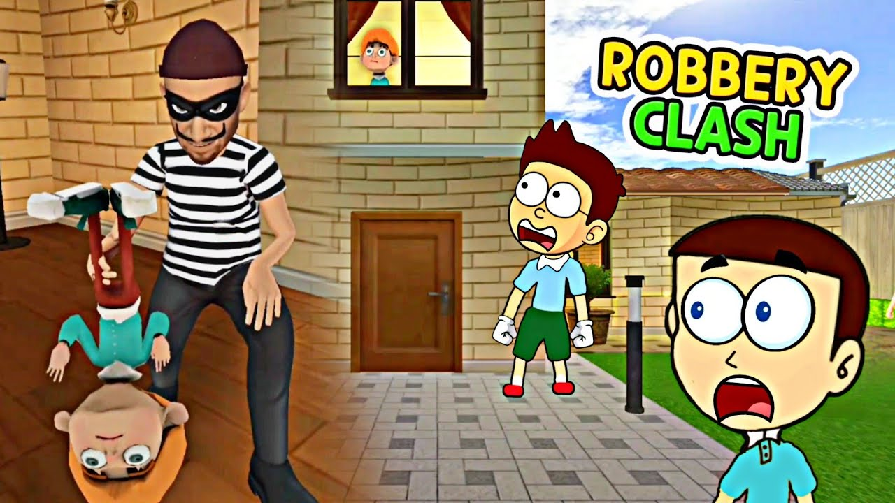 Download Robbery Clash Thief Pranks - Android Game   Shiva and Kanzo Gameplay