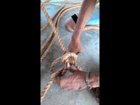 cara-cara membuat spider web daripada tali guni