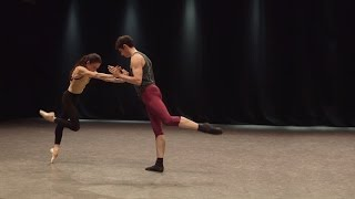Alessandra Ferri and Federico Bonelli rehearse Woolf Works (The Royal Ballet)