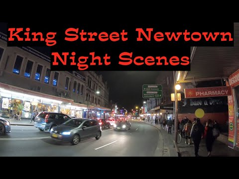 King Street Newtown Night Scenes - Newtown Sydney Australia 2019 (HD)