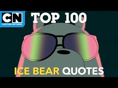 We Bare Bears | Top 100 Ice Bear Quotes | Cartoon Network