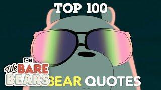 We Bare Bears | Top 100 Ice Bear Quotes | Cartoon Network