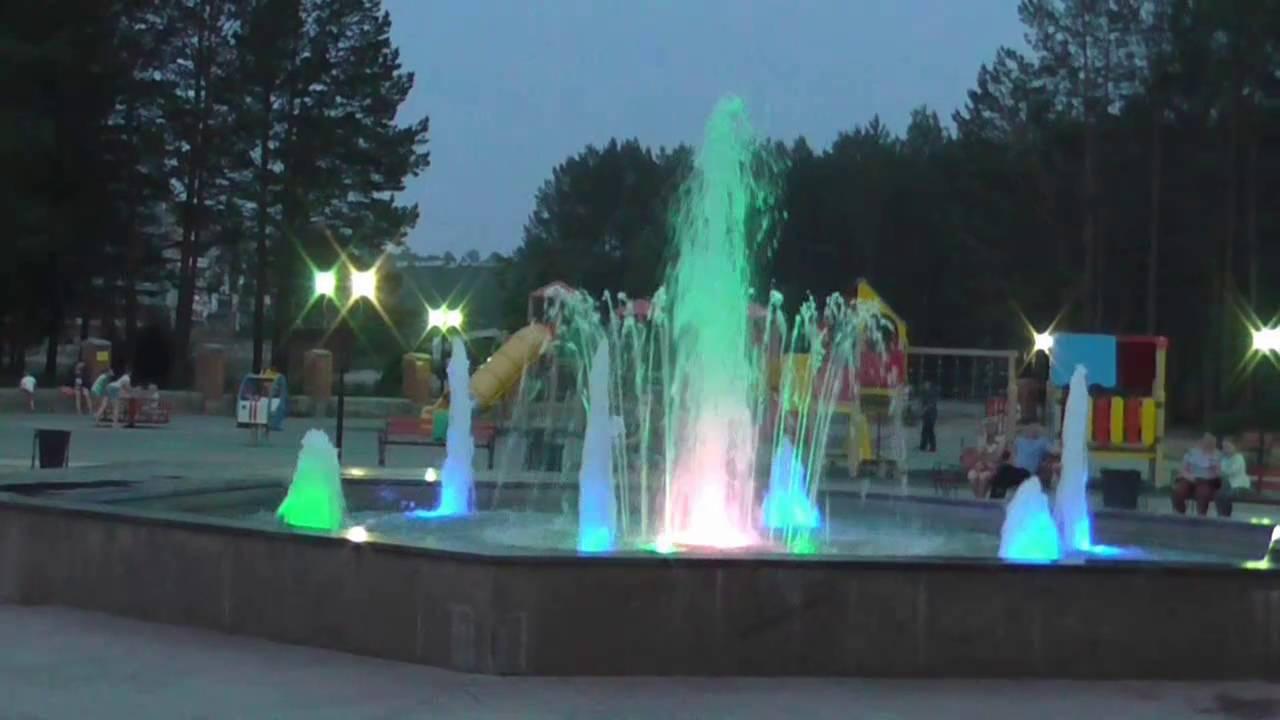 время саянск фонтан фото бананового