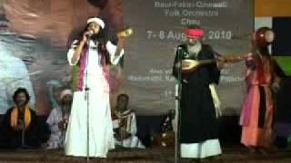 Akkash Fakir singing at Chittaranjan Park, Kalibari, Delhi
