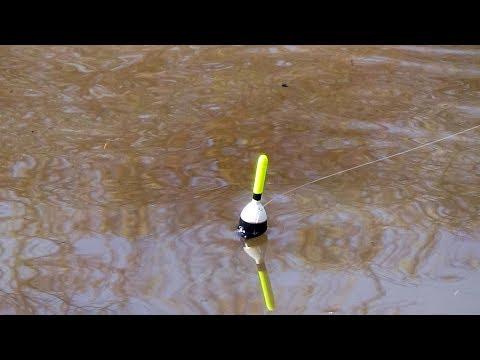 Как ловить рыбу на речке с течением видео