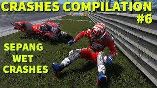 MotoGP 19 | CRASHES COMPILATION #6 | Malaysian Wet Crashes
