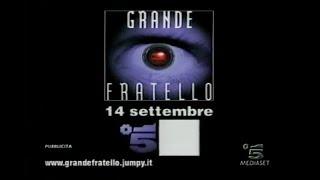 Promo Grande Fratello - Prima Edizione | Settembre 2000
