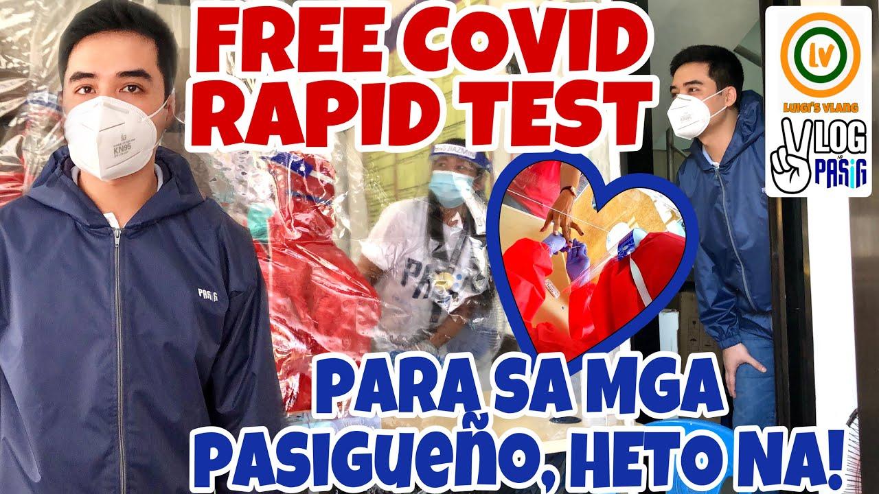PASIG HEALTH NEWS: LIBRENG COVID RAPID TEST heto na!