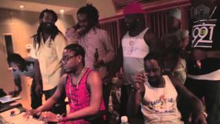 Notnice, Popcaan, Sizzla, Teflon In Studio Making - Way Out