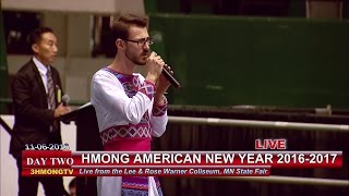 3 HMONG NEWS: Wameng Xiong sings a song by Tou Yang at Hmong American New Year 2016-2017.