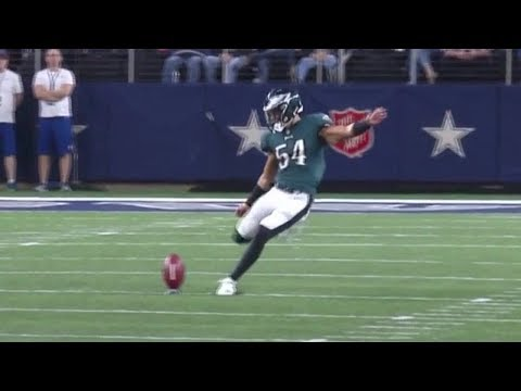 Eagles LB Kamu Grugier-Hill Kicking Highlights vs. Cowboys! | NFL