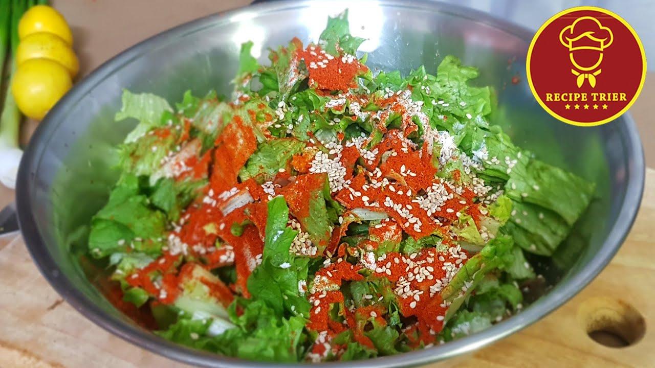 Salad Side Dish, Lettuce Kimchi /(English Subs)