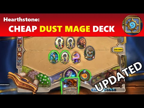 Hearthstone: Cheap Dust Tempo Mage Spell Deck - Cheap Mage Deck Guide | Hearthstone Guide (UPDATED)