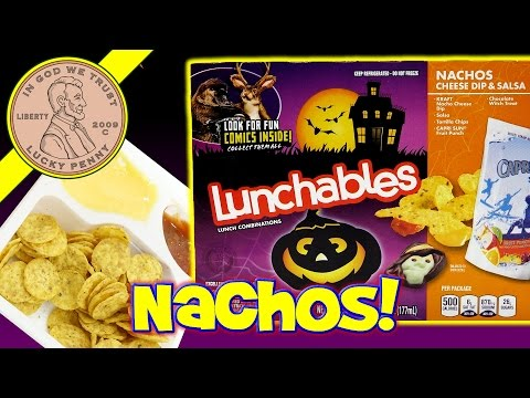 Halloween Lunchables Nachos Cheese Dip & Salsa Kids Lunch Snack