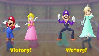 Mario Party 10 Minigames - Mario Peach vs Rosalina Waluigi (Master Cpu)