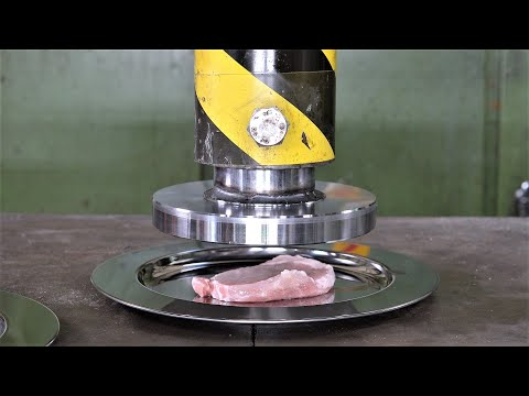 Can You Tenderize a Steak with Hydraulic Press | Taste Test!