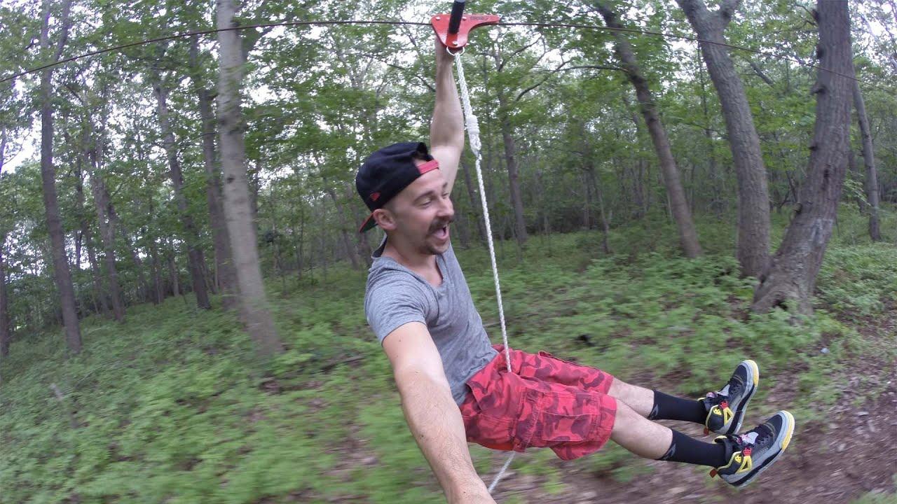 Homemade Zip-Line Fun (VLOG) - Jeremy Sciarappa