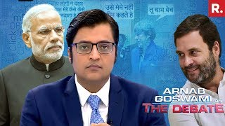 Congress Insults PM Modi - Should Rahul Gandhi Apologize? | The Debate With Arnab Goswami