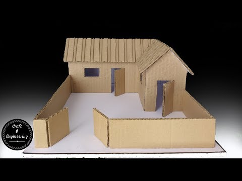 A small Cardboard House (with dimensions)- How to make