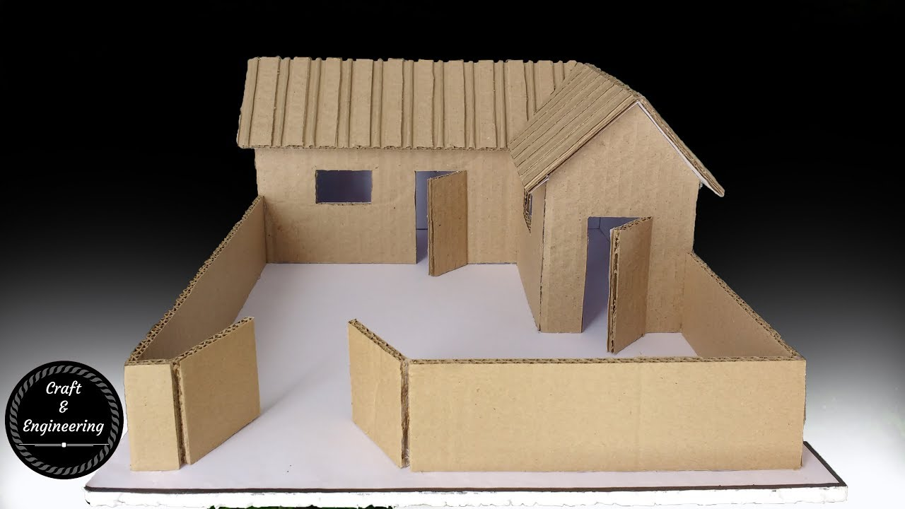 a small cardboard house with dimensions how to make