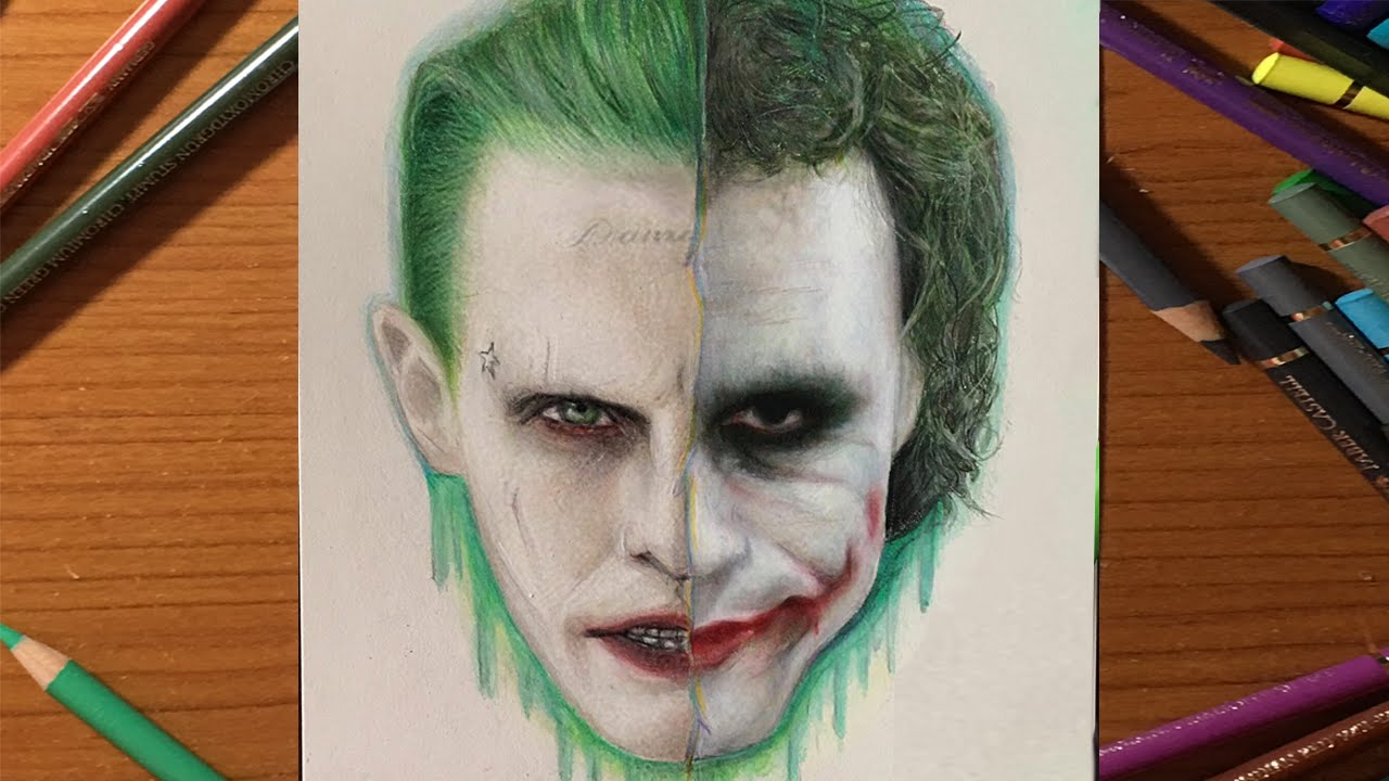 Joker Drawing 199 İzİmİ Heath Ledger X Jared Leto Youtube