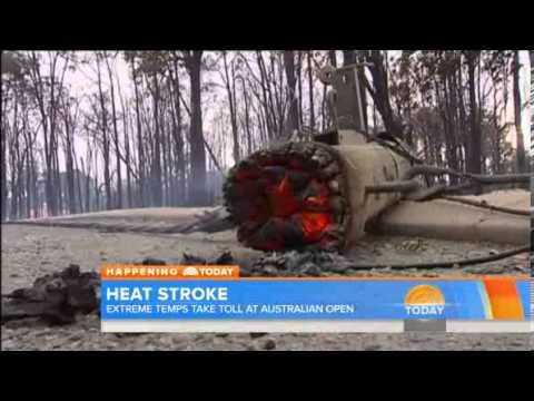 TODAY  Player at Australian Open  Heat wave is 'inhumane'