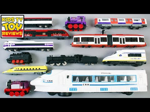 Learn Buses And Trains For Kids Children Babies Toddlers | V
