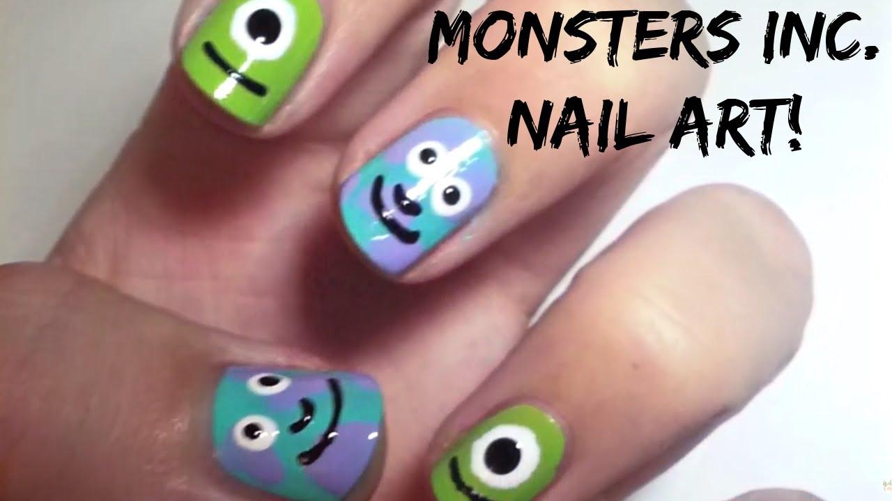 monsters nail art simple