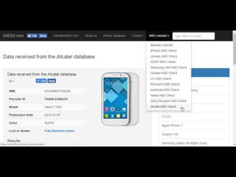 eIMEI24 com Alcatel warranty check