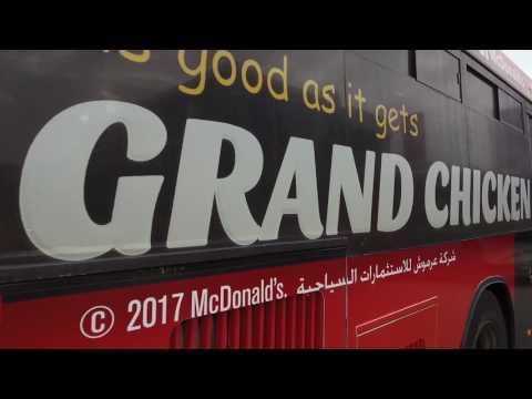 Amman City Bus visits McDonald's Jordan