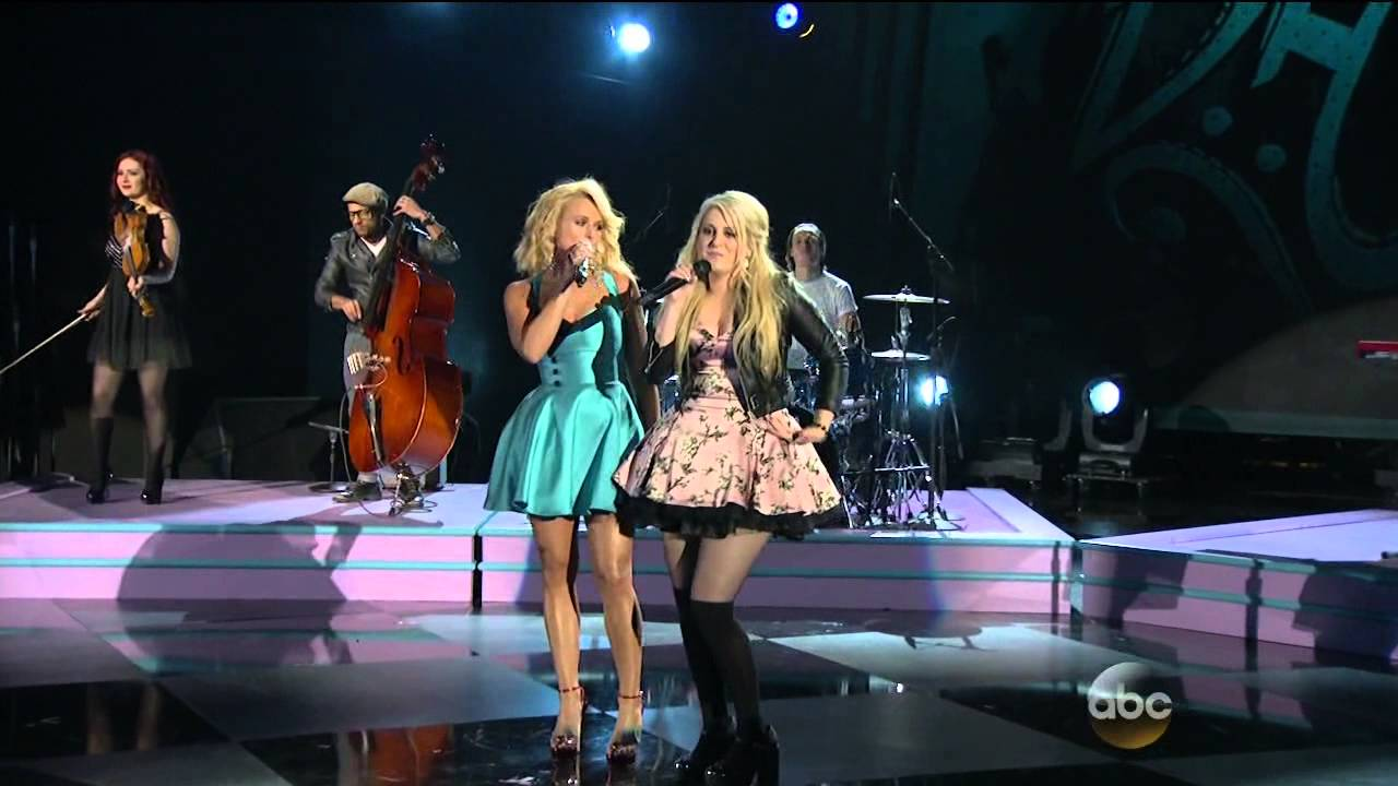 Bathroom Sink Youtube Cma miranda lambert & meghan trainor - all about that bass - the 48th