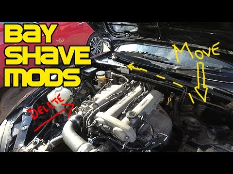 Easy Bay Shave Mods - Washer Bottle Relocation And EVAP Delete - MX5/Miata NB