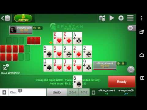 Open Face Chinese Poker (OFC) / Pineapple Cash Table