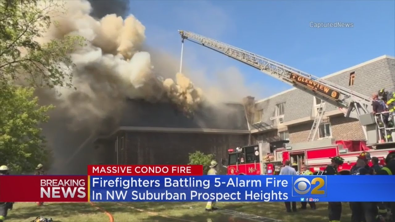 Fire Officials Battle 5 Alarm Apartment Fire In Prospect Heights