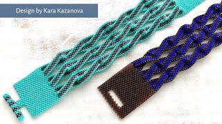 Twist bracelet tutorial | Even Count Peyote Stitch | Beaded Bracelet