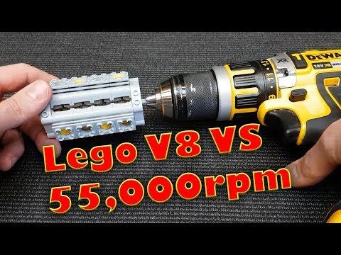 Lego V8 Engine VS 55,000 RPM Catastrophic Failure Explodes!! Epic  Sound