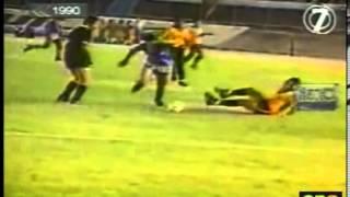 Emelec 6   Barcelona 0  Goleada histórica 1990