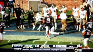 Oregon Highlights vs Virginia 9/7/2013