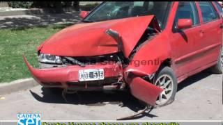 Accidente Auto - Alcantarilla - Zona Rural de General Deheza