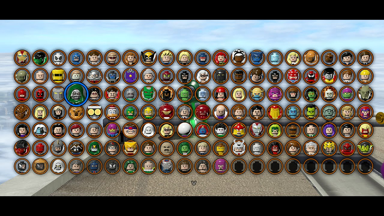 Lego Marvel Superheroes All Characters Unlocked Youtube